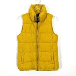 Old Navy Bright Yellow Fleece Lined Puffer Vest